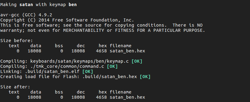 How to flash a Satan GH60 with QMK keyboard firmware (linux) – Ben James